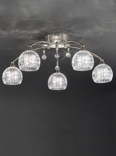 Franklite FL2295/5 Satin Nickel Ceiling Light
